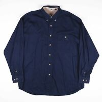 Vintage LEE Navy Blue Casual Shirt Size Mens XL