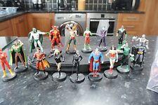 Eaglemoss DC Lead Figures Batman Wonderwoman Superman etc x 17 with display base
