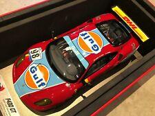 2007 Ferrari F430 GT Gulf 1000 km Silverstone Red / Rouge BBR 1/18 (neuve / new)