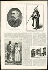 1890 - Antique Print  SAUDI ARABIA Captain Burton Mecca Damascus Ihram  (217)