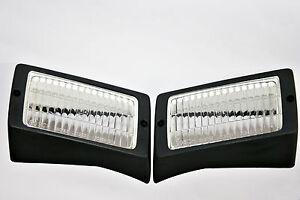 PORSCHE 911 930 SET BOSCH FOG LIGHT LENSES with FRAMES 1984 - 1989 NEW