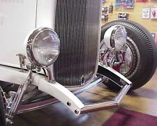 SO-CAL SPEED SHOP ARROW STYLE HEADLIGHTS CHROME BEZEL PAIR HOT ROD RAT GASSER