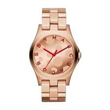 Totalmente nuevo para mujer Marc By Marc Jacobs Oro Rosa Henry Reloj mbm3268