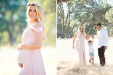 Photography Prop Pregnant Women Off Shoulder Lace Maxi Long Dress Gown Maternity