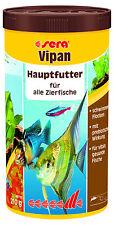 Sera Vipan 1 Liter Flockenfutter für ale Zierfische Hauptfutter Flocken Futter