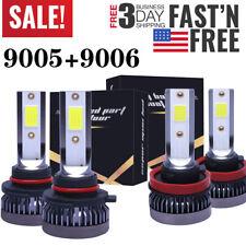 4Pcs 9005+9006 LED Headlight Bulb Kit HB3 HB4 For Chevy Silverado 1995-2016