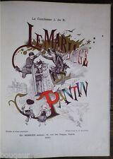 BUSNEL Comtesse de B -Le Mariage de Pantin - Musique de Paul BLETRY 1884 Pochoir