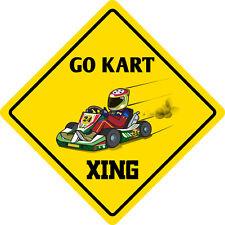 "*Aluminum* Go Kart Crossing Funny Metal Novelty Sign 12""x12"""