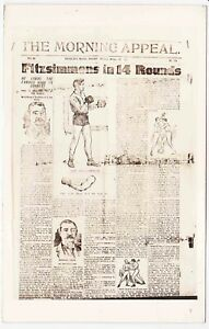 Corbett-Fitzsimmons Fight Real Photo Postcard