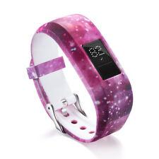 GARMIN VIVOFIT JR Replacement Silicone Band Wrist Strap Space Pink Galaxy Stars