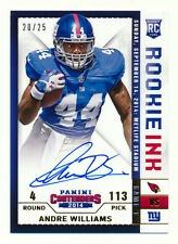 2014 PANINI CONTENDERS ANDRE WILLIAMS RC ROOKIE INK GOLD AUTO NY GIANTS #20/25