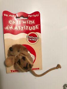Kong tennis ball mouse cat