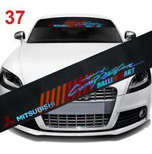 Ralliart Front Window Windshield Vinyl Banner Glossy Decal Sticker 4 Mitsubishi