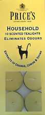 10 x Price's Household Tea Lights Candles Scented Eliminates Pet Odours Scent