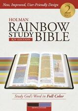 Holman Rainbow Study Bible: KJV Edition, Brown/Lavender LeatherTouch, , Good Boo