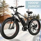 """26"""" 1000W Electric Bike Fat Tire Snow E-Bike Mountain Bicycle 48V With Battery ^"""