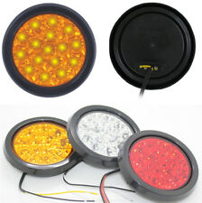 New Truck Car Round Clear Lens Yellow 16-LED Taillight Reverse Lamp Waterproof