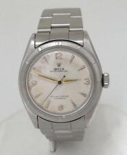VINTAGE ROLEX OYSTER PERPETUAL BUBBLE BACK STAINLESS STEEL BUBBLE BACK 34mm 6085