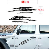 DIY 2X Schwarz Sharp Scratch Dekorieren Vinyl Auto Aufkleber für Jeep Wrangler