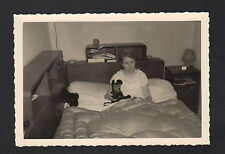 ENFANT avec SOURIS de MICKEY en peluche / photo amateur en 1964