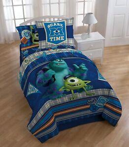 NEW Disney Monsters INC University Scare-Care Reversible Comforter Set Full Mike