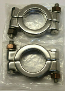 """(2) Dixon Valve, 13MHP100-150, 1""""-1.5"""" Stainless Bolted Clamp 304 Stainless"""