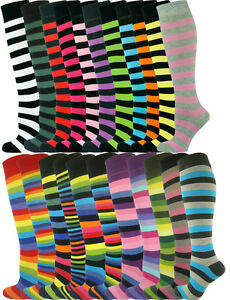 Mysocks 21 Pairs Knee High Long Stripe Socks