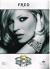 Publicité Advertising 2010 Bijoux Bracelets Fred avec Kate Moss