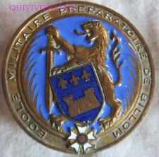 IN14144 - INSIGNE Ecole Militaire Préparatoire BILLOM,émail,bleu foncé,dos lisse