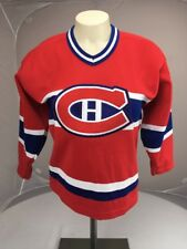 Authentic CCM Montreal Canadiens NHL Red Hockey LS Jersey Youth S-M Canada