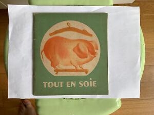 Livre Enfantina Père Castor Tout En Soie Françoise Thémerson 1948 Cochon