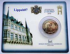 Luxemburg / Luxembourg speciale 2 euro 2010 Wapen / Waffen BU in Coincard