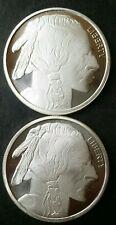 Two SilverTowne 1oz Silver Buffalo Rounds