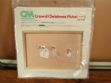Columbia Minerva Crewel Christmas Picture Looking for Santa NEW  Kit #7878