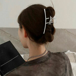Women Lady Large Metal Hair Claw Clasp Formal Hair Clip Jaw for Thick Hair