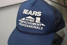 Speedway Vintage Sears Home Improvement Hat Cap Strap Back Blue Grid Adjustable
