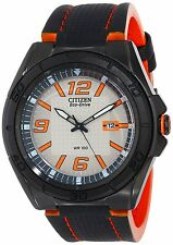 Citizen AW1385-03H Men's Eco Drive BRT 3.0 Drive Leather Band Analog Watch