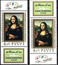 Hungary 1974 Mona Lisa mnh Leonardo da VINCI  painting/2 diff. TAB CV$12.50