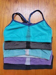 LOT (5) Lucy Activewear Convertible Racerback Sports Bra Yoga Bikini Crop Top