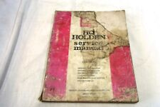 HOLDEN HQ SERIES SERVICE MANUAL