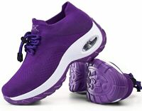 Slow Man Women's Shoes Slip On Running Sneaker Fabric Low Top, Purple, Size  qtH