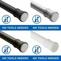 "Mainstays 48"" - 84"" Adjustable Tension Curtain Rod, Nickel /Black /White /Bronze"