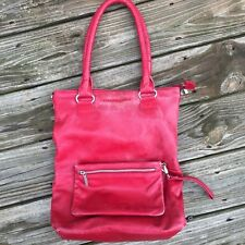 NWOT Sticks and Stones Red Madrid Shopper Tote Shoulder Bag Womens Amsterdam