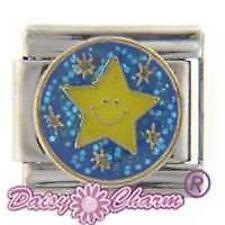 BRIGHT STAR  - 9mm Daisy Charms by JSC Fits Classic Size Italian Charm Bracelet
