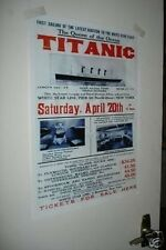 The Titanic Launch Advertising Repro POSTER