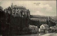 Weilburg Lahn alte AK Hessen ~1910 Teilansicht mit Blick auf das Schloss