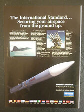 PUB HUGHES AIRCRAFT AMRAAM GUIDED MISSILE F-22 RAPTOR MILITARY TECHNOLOGY AD