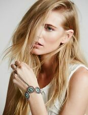 Free People Turquoise Chain Bracelet Hand Piece Ring Jewelry Ah Reum La Couture