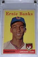 1958 Topps Ernie Banks Chicago Cubs #310 VG-EX HOF VINTAGE 🔥 (Slight Wear)