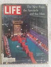 LIFE Magazine July 5, 1963; The New Pope: The Spectacle and the Man -RARE FIND!